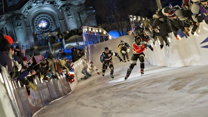 Red Bull Crashed Ice Downhill World Championship 2015 Begin in St. Paul