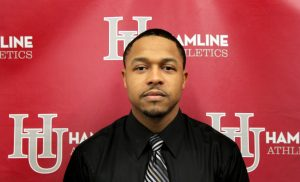 "Hamline University Athletics announced March 14, 2016 that Charles ""Chip"" Taylor, Jr. is the new head football coach for the Pipers. Taylor has already led the Pipers to success as the defensive coordinator for the past three seasons. He replaces Chad Rogosheske '98, who accepted a position as head coach at Capital University in Columbus. Photo courtesy of Hamline University Athletics."