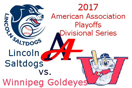 2017 American Association Playoffs: Lincoln Saltdogs vs. Winnipeg Goldeyes