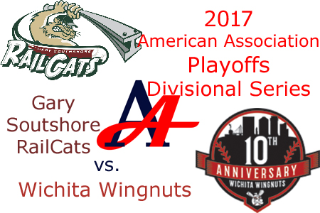 2017 American Association Playoffs: Gary Southshore RailCats vs. Wichita Wingnuts