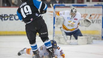 Brady Shaw Scores Two to Lead Colorado Eagles to 5-3 Comeback Win
