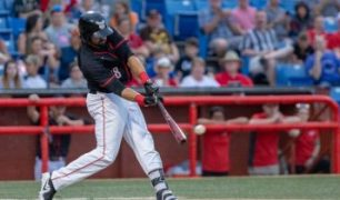 Zach Nehrir Helps Power the Wichita Wingnuts to 8-2 Opening Night Victory