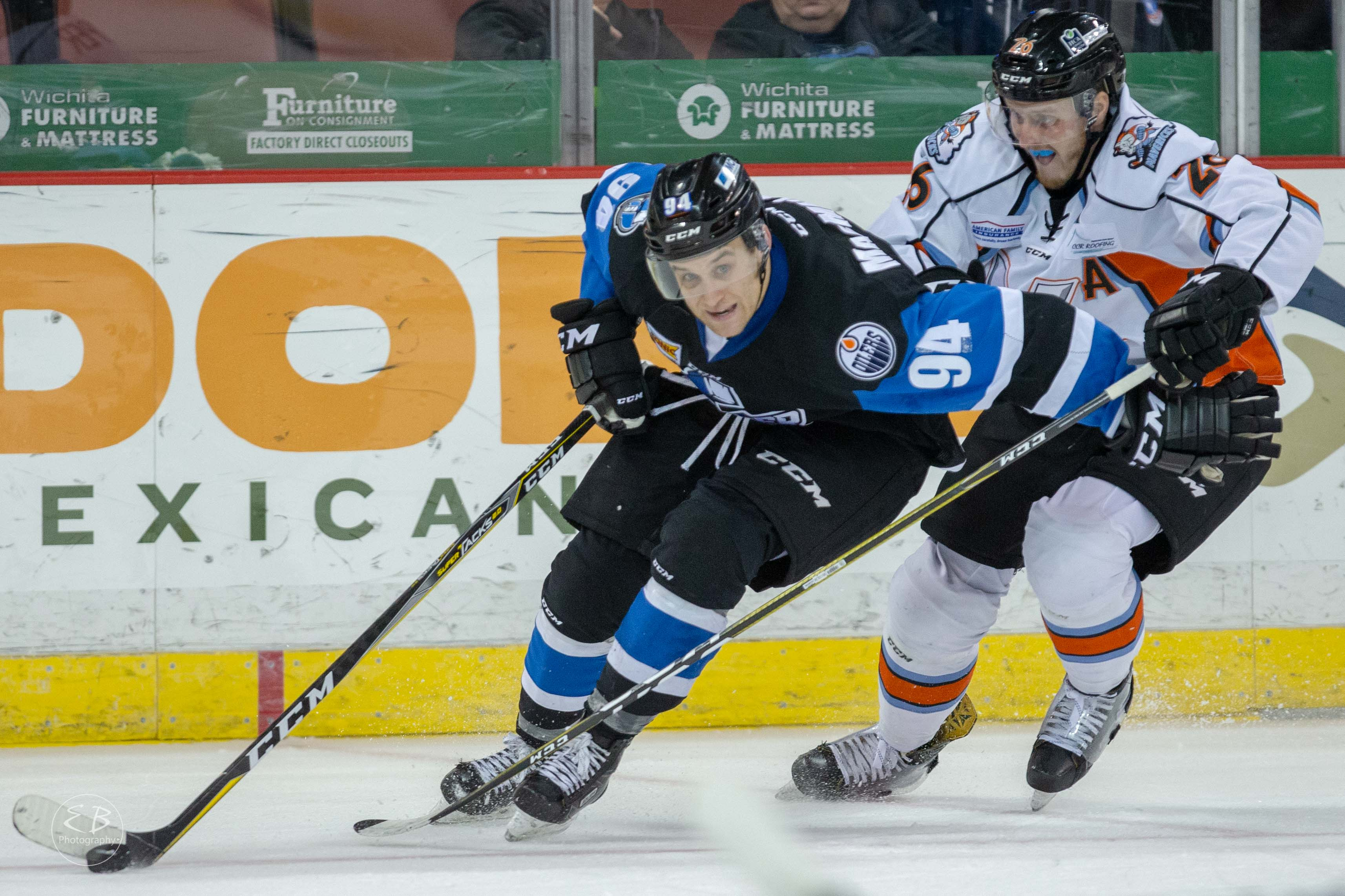 Two Goals by Pierre-Cedric Labrie Helps Thunder Snap Skid, 5-2