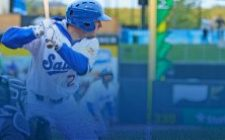 Blake Schmit Drives in Three to Lead Saints to 9-5 Win