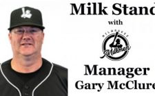 Milk Stand with Milwaukee Milkmen Manager Gary McClure