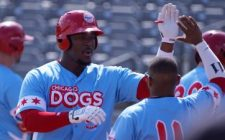 Barnum Leads Dogs Mauling of RailCats, 16-2