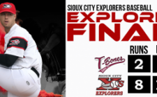 Pair of Fours Gives Explorers Winning Hand, 8-2