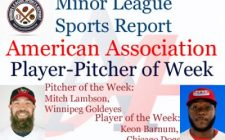 Dogs Keon Barnum, Goldeyes Mitch Lambson Honored in Week 14