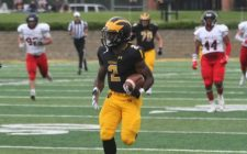 Veldman Leads Gusties Victory over Blue Devils, 41-31