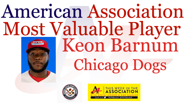 Keon Barnum Named American Association Most Valuable Player