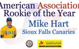 Mike Hart Named American Association Rookie of the Year