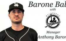 Barone Ball with Milwaukee Milkmen Manager Anthony Barone