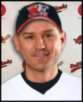 Coste-Line with Fargo-Moorhead RedHawks Manager Chris Coste