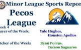 Yale Hughes, Ryan Porras Earn Week 4 Pecos League Honors