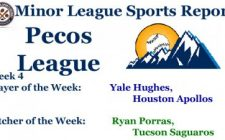 Yale Hughes, Ryan Porras Earn Week 4 Pecos League Honors