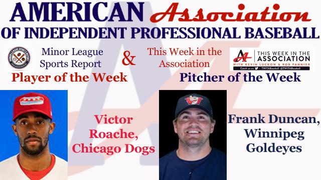 Roache, Duncan Receive American Association Week 3 Honors