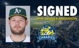 Canaries Add RHP, Former MLB Tanner Anderson