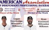 Trowbridge, Kussmaul Awarded Week 5 American Association Honors