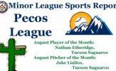 Nathan Etheridge & Jake Lialios Earn August Pecos League Honors