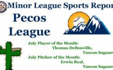 Thomas DeBonville, Erwin Real Earn July Pecos League Honors