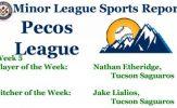 Nathan Etheridge Jake Lialios Earn Week 5 Pecos League Honors