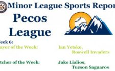 Ian Yetsko & Jake Lialios Earn Week 6 Pecos League Honors