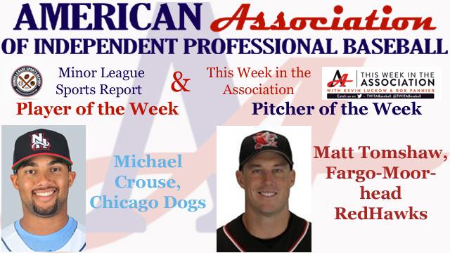 Crouse, Tomshaw Receive American Association Week 4 Honors