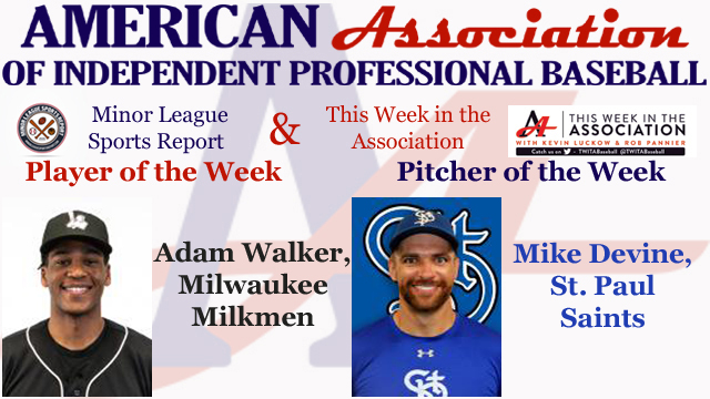 Walker, Devine Awarded Week 7 American Association Honors