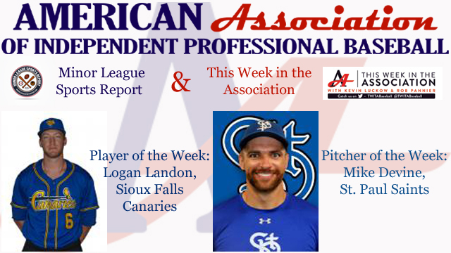 Landon, Devine Awarded Week 9 American Association Honors