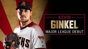 "portrait of Kevin Ginkel with ""MLB debut"""