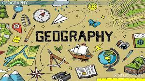 """""""Geography"""" surrounded by tools of travel and cartography as applies to 2021 schedule"""