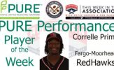 Fargo-Moorhead RedHawks Correlle Prime Named PURE Performance Player of the Week
