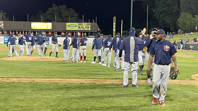 Costello, Navarro Give Goldeyes Win Over Cougars in 10
