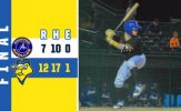 Gurwitz Drives in Six to Send Canaries Soaring to Victory
