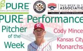 Kansas City Monarchs Cody Mincey Named PURE Performance Pitcher of the Week