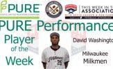 Milwaukee Milkmen David Washington Named PURE Performance Player of the Week
