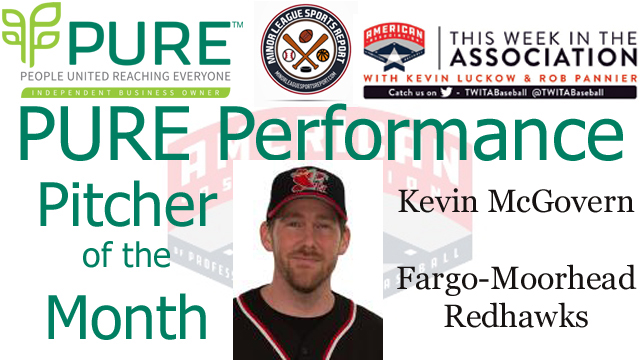 Kevin McGovern Named PURE Performance Pitcher of the Month for May