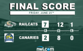 RailCats Rally Late to Down Canaries in Sioux Falls