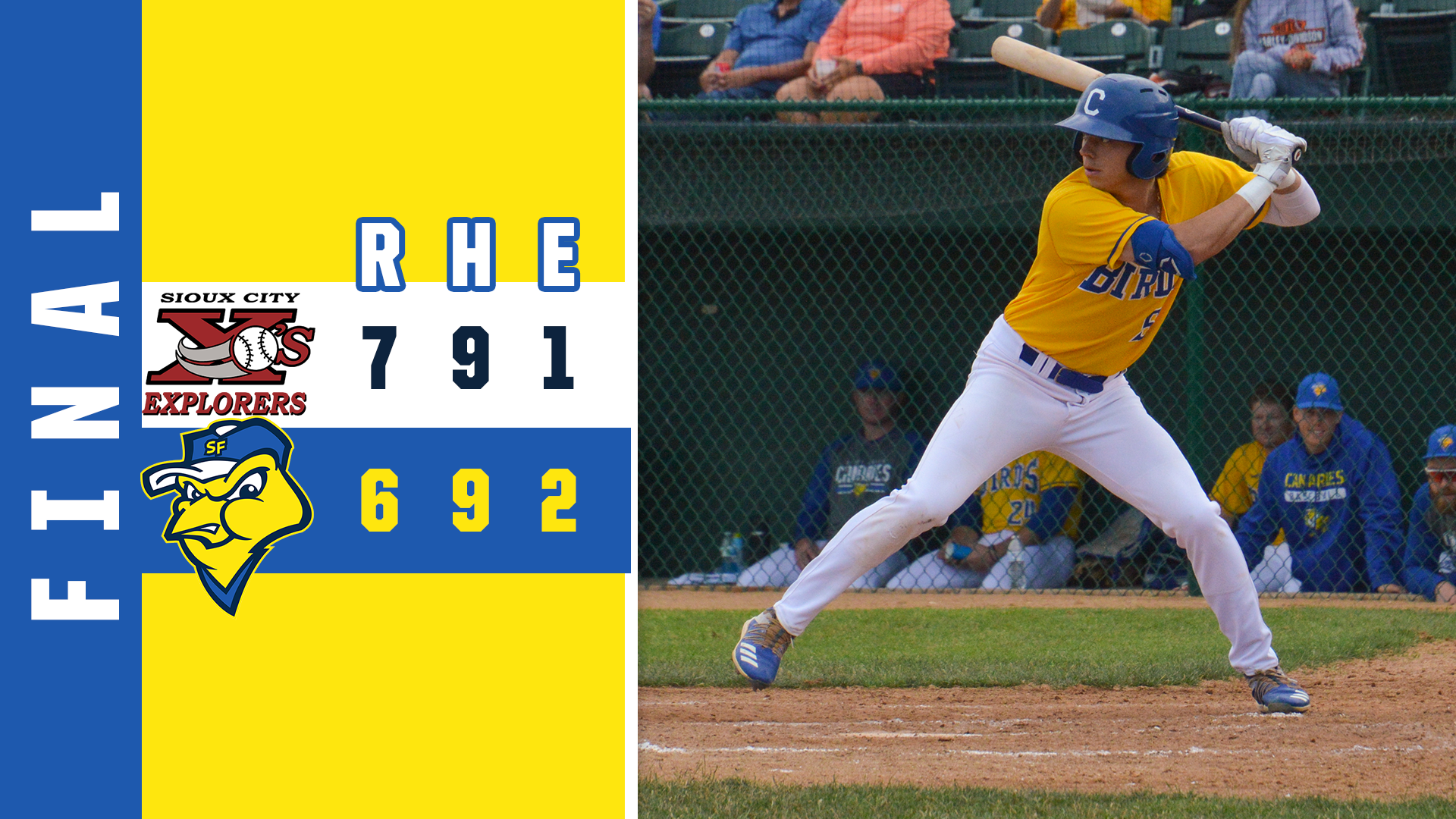 Canaries Rally in Ninth Falls Short in Loss to Explorers