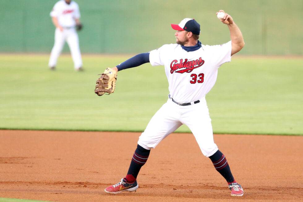 Martin, Murphy Lead Goldeyes to Victory over RailCats