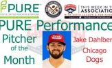 Chicago Dogs LHP Jake Dahlberg Named PURE Performance Pitcher of the Month for June