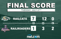 Alkire Dominates in RailCats Series Opening Victory