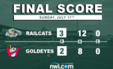 RailCats Win Series in Jackson with Extra Inning Victory