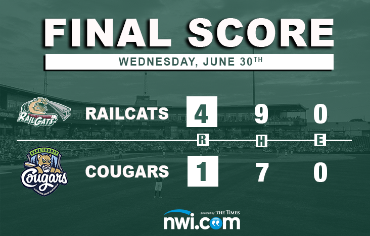 Vincent Declaws Cougars in RailCats 4-1 Victory