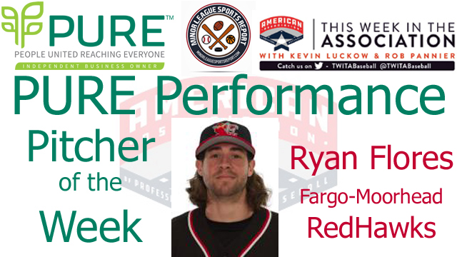 Fargo-Moorhead RHP Ryan Flores Named PURE Performance Pitcher of the Week