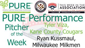 Ryan Kussmaul, Tyler Viza Named PURE Performance Co-Pitchers of the Week