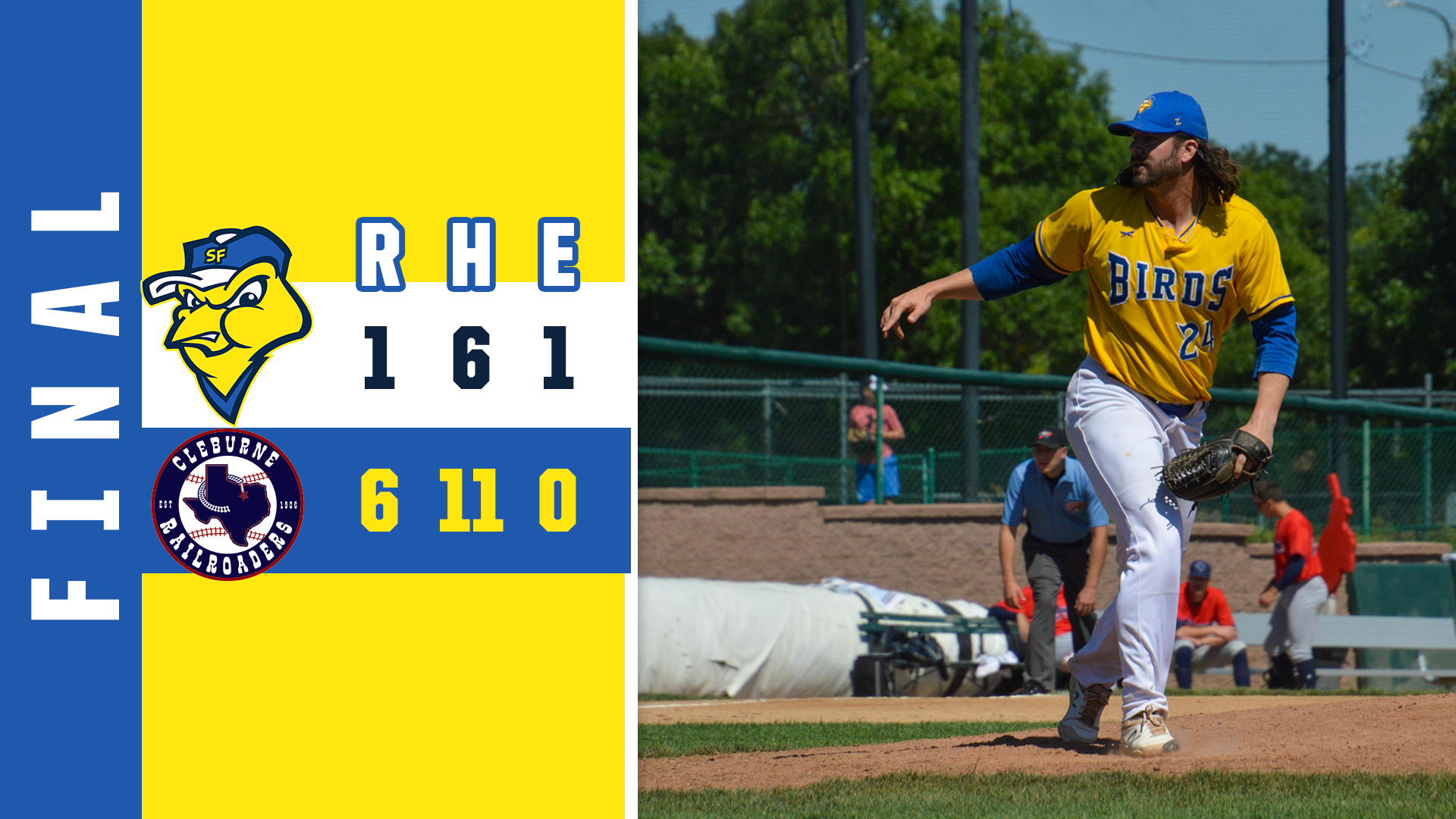 Canaries Grounded in Series Opener in Cleburne