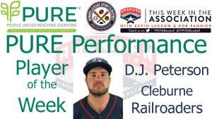 Cleburne Railroaders 1B D.J. Peterson