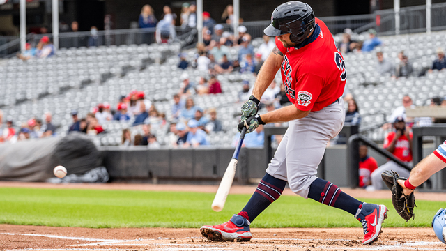 Martin Homers Twice But Goldeyes Swept by Dogs