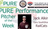 Gary SouthShore RailCats Jack Alkire Named PURE Performance Pitcher of the Week